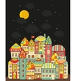 Cute night town vector image