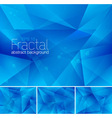 fractal blue vector image vector image