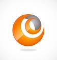 internet e swirl abstract logo vector image