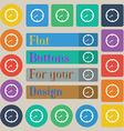 Timer sign icon Stopwatch symbol Set of twenty vector image