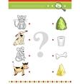 Matching game for preschool children book Cartoon vector image vector image