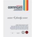 certificate vector image