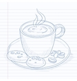 Cup of aromatic coffee vector image