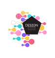 design logo template label for brand company vector image