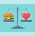 health balance on the scale vector image