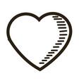 love heart romantic feeling emotion image vector image