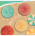 The opening of the beach season vector image