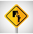 under construction road sign paint wall vector image