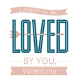 Valentine day or wedding posterTypography vector image