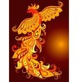 A mythical fire bird vector image