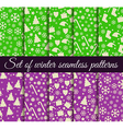 Seamless patterns Christmas Winter pattern vector image