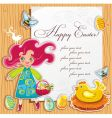 Easter paper vector image vector image
