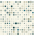 Seamless Geometric Pattern of the Color Circles vector image