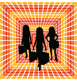 shopping trip vector image vector image