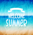 Welcome to summer vector image vector image