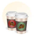 Coffee cups to go vector image vector image