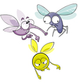 cartoon flying insects vector image