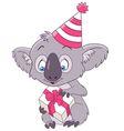 cute and happy cartoon koala vector image