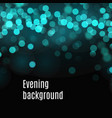 bokeh background of blue and green blurred lights vector image