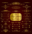 golden page dividers and ornate headpieces vector image