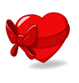 heart tied with ribbon bow vector image