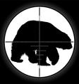 Hunter sniper scope vector image
