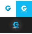 letter G logo design icon set background vector image