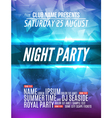 Modern Club Music Party Template Night Dance Party vector image