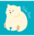 Polar bear isolated Child fun pattern icon vector image
