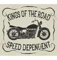 Vintage label with motorcycle vector image