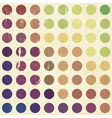 retro colorful circles background vector image vector image