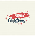 merry christmas text quote lettering vector image