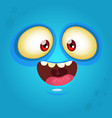 happy cartoon monster face vector image