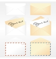 Collection of envelopes vector image vector image