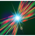 Abstract virtual tecnology space with screen vector image vector image