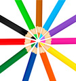 group with color pencils vector image vector image