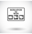 Scratch card flat icon vector image vector image