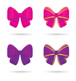 bow in pink and violet vector image