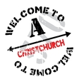 Christchurch stamp rubber grunge vector image
