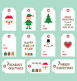 christmas labels set vector image