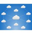 Cloud network vector image