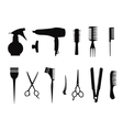 Collection of hairdressing icons vector image