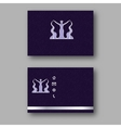 Design business card with logo of the goddess of vector image