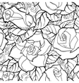 Doodle seamless background in with doodles vector image