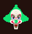 flat icons on theme funny clown vampire vector image