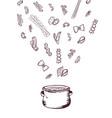 hand drawn pasta pan concept vector image