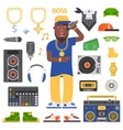 Hip hop man vector image