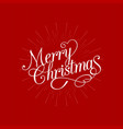 merry christmas calligraphic design vector image