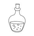 spa glass bottle oil aromatherapy massage vector image