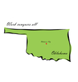 State of Oklahoma vector image